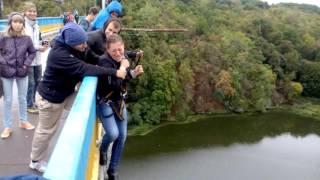 Роуп джампинг в Житомире первый прыжок
