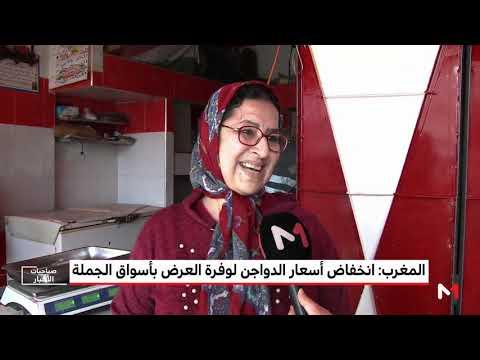 العرب اليوم - شاهد: أسعار الدواجن تنخفض في أسواق الجملة المغربية