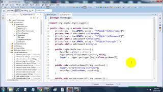 Creating logs using Log4J