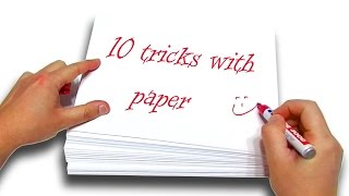 ⚠️ TOP 10+1 BEST Tricks With Paper - Experiment at Home Life Hacks