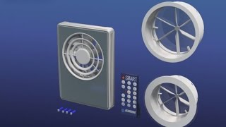 Der Ventilator Blauberg Smart:  Vollübersicht der Montage, Anschluss und Einsetzen