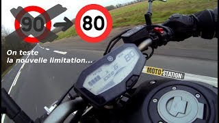 On a testé la limitation à 80 km/h !