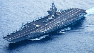 USS Theodore Roosevelt in Action Takeoffs and Landings on Super Aircraft Carrier