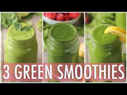 Video 3 Healthy Green Smoothies | Healthy Breakfast Ideas