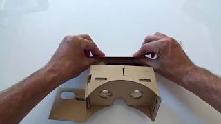 DIY Cardboard 3D VR Virtual Reality Brille zusammenbauen