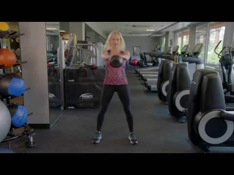 Kettlebell Two Arm Swing Catch