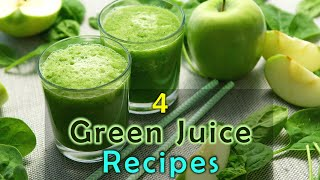 HOW TO MAKE HEALTHY GREEN JUICEs,. 4 RECIPES FOR WEIGHT LOSS, BELLY FAT, GLOWY SKIN By Sagar Mantry