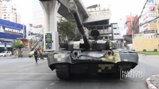 กองทัพบกทำการเคลื่อนย้ายรถสายพานลำเลียงพล