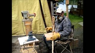 Making a walking cane with handle inserted through shaft