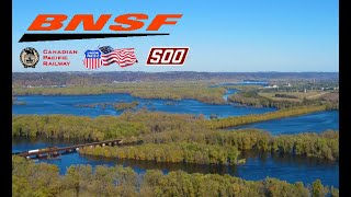 Railfanning BNSF CP Along the Mississippi River Day 2