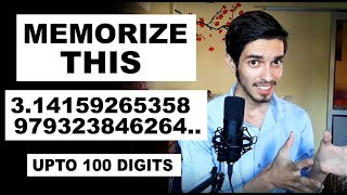 Memorize the first 100 digits of Pi in 5 Minutes (Method to Memorize Any number) Mental Maths-3
