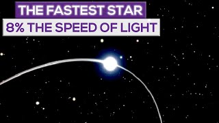 The Fastest Star Ever  Seen Is Moving At 8% The Speed Of Light!