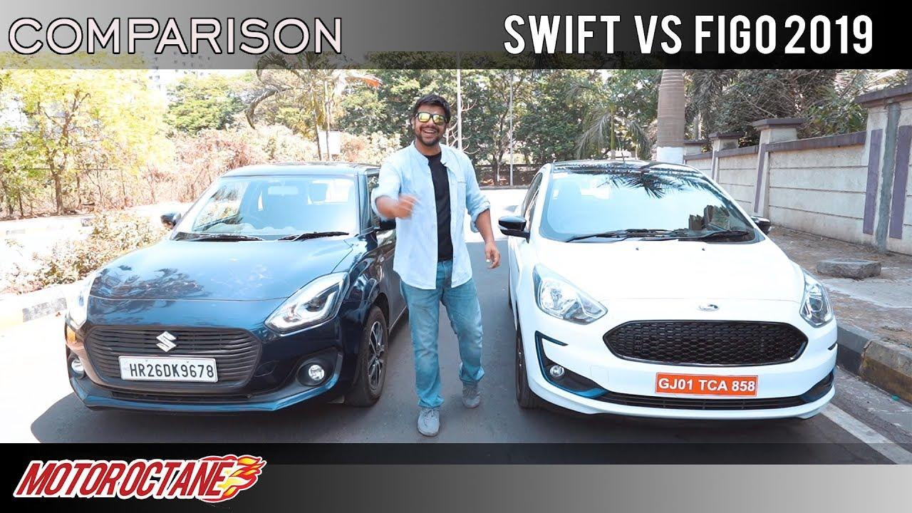 Motoroctane Youtube Video - Maruti Swift 2019 vs Ford Figo blu Comparison   Hindi   MotorOctane