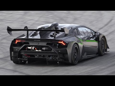 NEW Lamborghini Huracán Super Trofeo Evo Testing on Track!