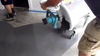 Mixing & Pouring Ardex self leveling concrete