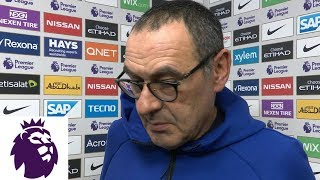 Maurizio Sarri discusses Chelsea's historic loss | Premier League | NBC Sports