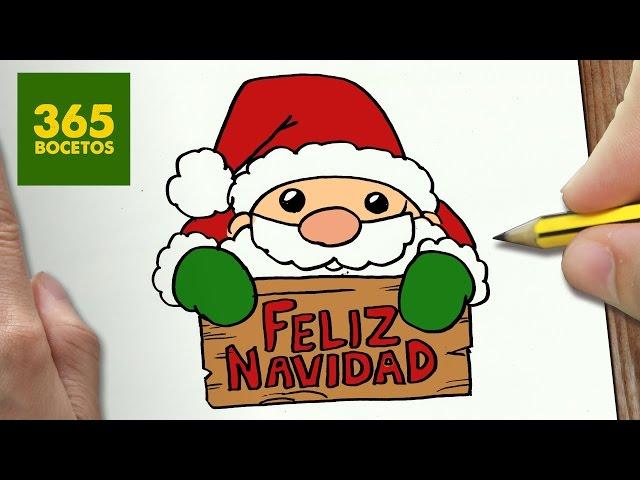 Video Como Dibujar Santa Claus Para Navidad Paso A Paso Dibujos