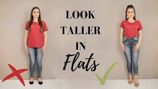 HOW TO LOOK TALLER IN FLAT SHOES // 8 Tips To Look Taller Without Heels