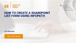 Create a SharePoint List Form Using InfoPath