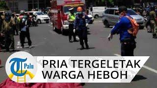 Heboh Pria Tak Sadar Diri Tergeletak di Jalan, Warga dan Polisi Tak Berani Dekat Khawatir Covid-19