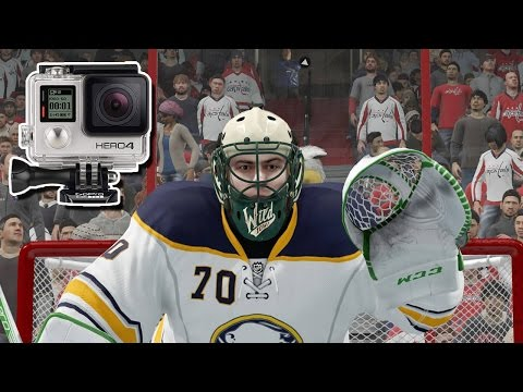 NHL 17 - EASHL Goalie #3 - Real Life GoPro Hockey!