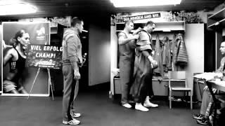 Kадри от съблекалнята на Кличко преди мача с Пулев от Gofit.bg