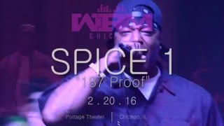Spice 1 East Bay Gangsta ((LIVE MUSIC)) Portage Theater Chi IL 02 20 2016 CHHM Logo Final