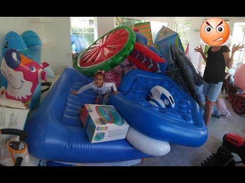 Havuz şişme oyuncaklarımızı, zıpzıplarımızı, havuzlarımızı topluyoruz, düzenliyoruz, eğlenceli çocuk
