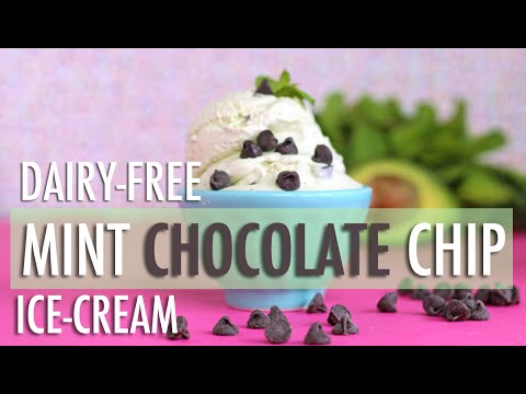 Video Mint Chocolate Chip Ice-Cream | Healthy & Dairy-Free Homemade Ice-Cream