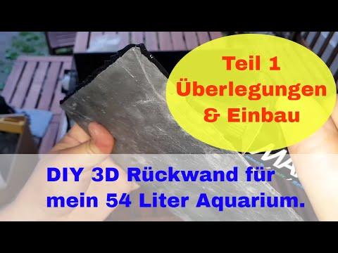3D Rückwand für ein 54l Aquarium selbst gebaut für unter 15 Euro #1