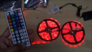 Relohas Waterproof LED Strip Light 10M Unboxing and Setup