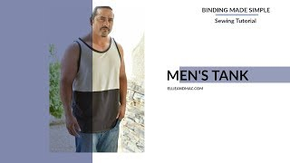 Mens Tank Top Faux Binding Sew Along Tips And Tricks