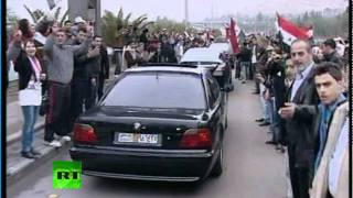 Видео: Кортеж Лаврова в Дамаске, встреча с Асадом