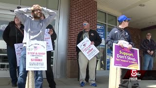 Thousands of Stop and Shop union workers go on strike, walk off job