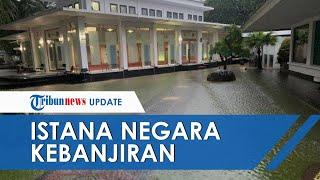 Video Penampakan Banjir Jakarta Melanda Istana Kepresidenan