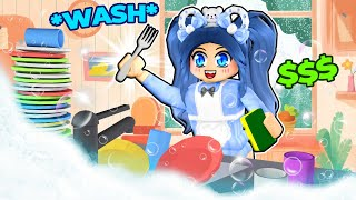 Washing EXPENSIVE Dishes in Roblox!