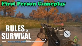 RULES OF SURVIVAL - FIRST PERSON VIEW MODE GAMEPLAY ( UPDATE )