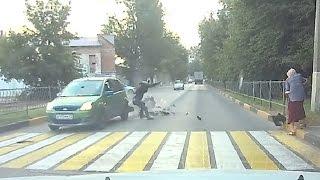 Мотоцикл ошибок не прощает   ( Мото аварии Августа ) Тематические подборки дтп