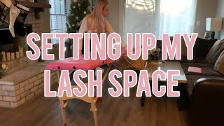 Lashing From My Living Room! Watch Me Set Up My Lash Space| Whiplash