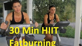 30-Min. Fatburning HIIT Bike Workout+++Level 7,5