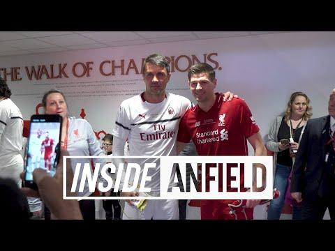 Inside Anfield: Liverpool FC Legends v AC Milan   Gerrard, Pirlo, Carragher, Kaka and more