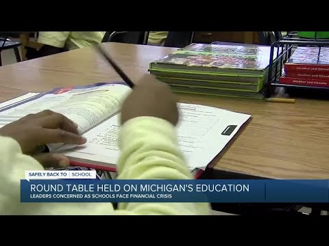 Roundtable held on Michigan's education amid virus
