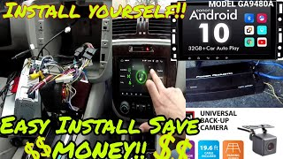 FULL INSTALL Eonon Android 10 Stereo, Backup Cam, Amp, Sub's In Chevy Impala LT Eonon Model-GA9480A
