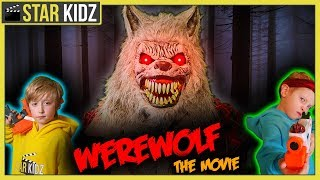 Werewolf Sneak Attack on Ethan : THE MOVIE! Spooky Backyard Nerf Battle!