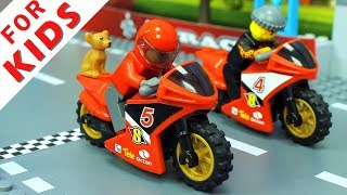 LEGO Motorbike and Cars Compilation. Lego Stop Motion Animation