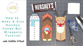 How To Create And Size Cricut Holiday Candy Bar Wrappers Tutorial