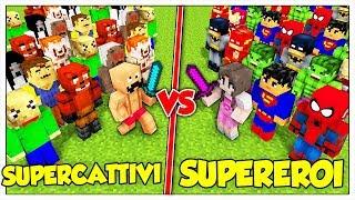 ESERCITO DI SUPERCATTIVI CONTRO SUPEREROI! - Minecraft ITA