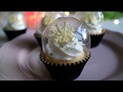 ゼラチンで作るドームがKawaii ☆スノードームカップケーキ
