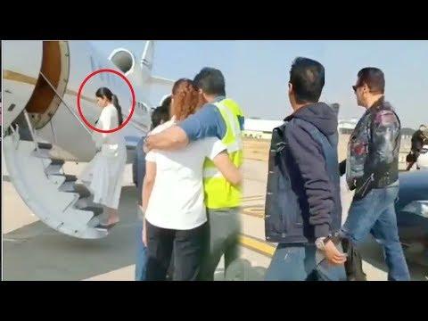 Salman Khan Takes Girlfriend Katrina Kaif On Private Jet To Mumbai After Isha Ambani WEDDING Udaipur