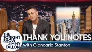Yankees Superstar Giancarlo Stanton Writes a Thank You Note to NYC